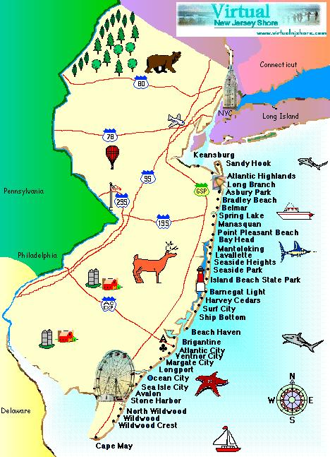 Nj Shore Map Flight Areas | Paramount Air – Aerial advertising banners that get