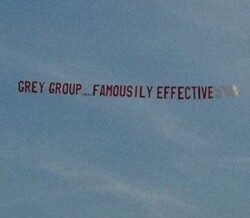 Aerial banner at Cannes raises profile of advertising group